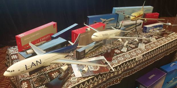 Model planes sold at a fundraising event for Fiji (post Cyclone Winston). They were auctioned for $5300. Photo / Winston Aldworth