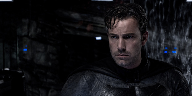 Ben Affleck as Batman in a scene from the movie Batman v Superman: Dawn of Justice.