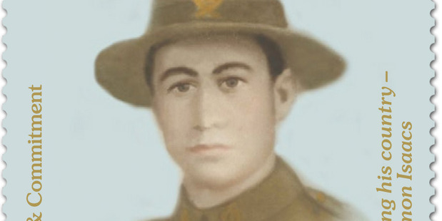 New Zealand Post's latest series of World War I commemorative stamps features Solomon Isaacs. Photo / Supplied