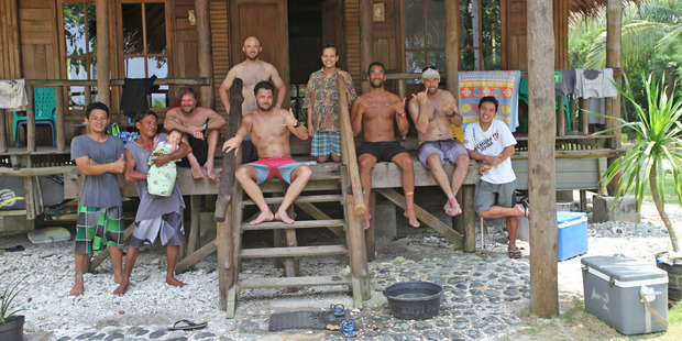 Ben Chapman-Smith on a surfing trip with friends in Indonesia. Photo / Ben Chapman-Smith