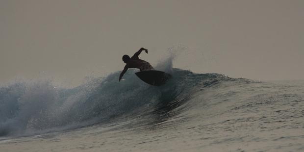 Surfing at Tikus, in Indonesia. Photo / Ben Chapman-Smith