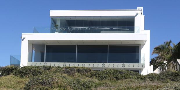 The Mt Maunganui home has 180-degree views of the sea. Photo / Alan Gibson