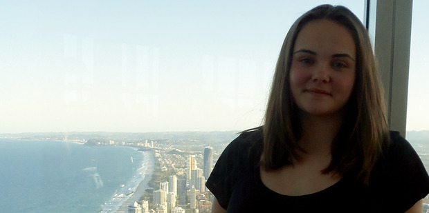 April Crofskey on the viewing deck of Q1, the Gold Coast's tallest building.Photo / April Crofskey