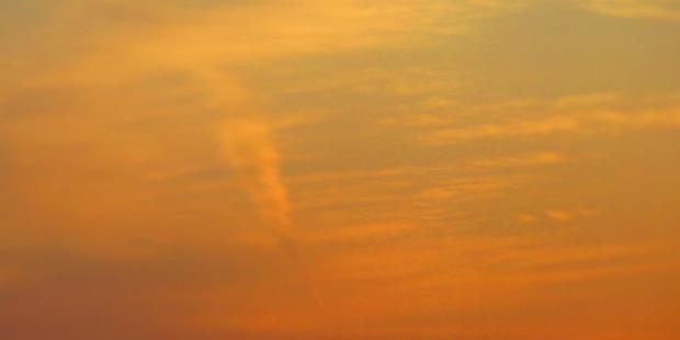 From Rocky Bay, Waiheke Island, this curiosity was seen in the sky. Photo / Joan Kirk