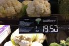 Cauliflower's in Rarotonga.
