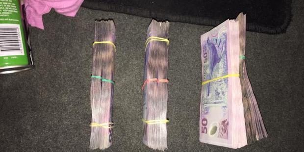 Money taken in the raid. Photo / Supplied