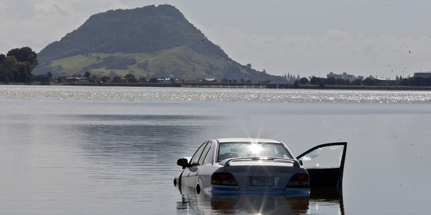 A car has plunged into Tauranga Harbour. Photo/Andrew Warner