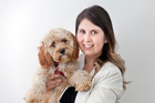 Aleyce McLatchie with her Cavoodle Ted. Photo/Andrew Warner