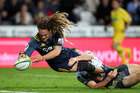 Dan Pryor of the Highlanders scores a try during the round six Super Rugby match between the Highlanders and the Western Force on April 1, 2016. Photo / Getty Images