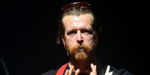 Jesse Hughes frontman of California, USA, rock band Eagles of Death Metal. Photo / AP