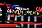 From left, Republican presidential candidates, retired neurosurgeon Ben Carson, Sen. Marco Rubio, R-Fla., businessman Donald Trump, Sen. Ted Cruz, R-Texas, and Ohio Gov. John Kasich. Photo / AP