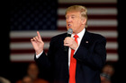 Republican presidential candidate Donald Trump speaking at a campaign stop. Photo / AP