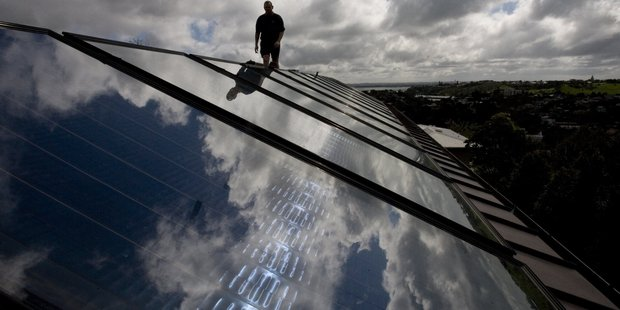 In a 3D model thought to be the first of its kind in New Zealand, a researcher has mapped the rooftop solar potential of half a million Auckland homes. Photo / Richard Robinson