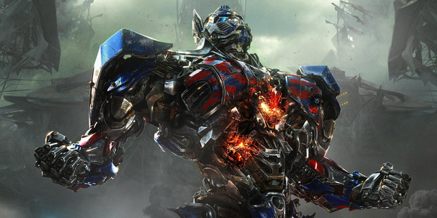 Optimus Prime in a scene from the movie Transformers: Age of Extinction.