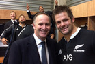 Just how did John Key get two of the biggest names in rugby to back his failed flag campaign? Photo / Supplied