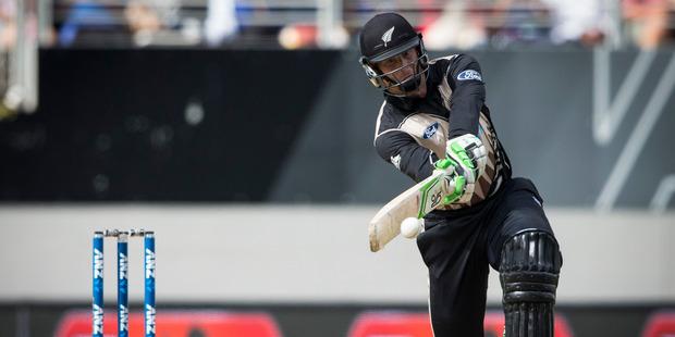 Black Cap batsman Martin Guptill in action during the Twenty20 international cricket match between New Zealand and Sri Lanka at Eden Park. Photo / Jason Oxenham