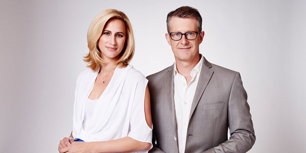 <i>Fair Go</i> presenters Pippa Wetzell and Gordon Harcourt. Photo / Supplied
