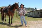 DOCILE: Raetihi's Tommy Waara trained two Kaimanawa stallions last year. This one is Tukotahi. PHOTO/FILE