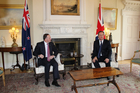 Britain seems to be forgetting its history with New Zealand, Prime Minister John Key says he told his UK counterpart, David Cameron, at a meeting in Washington yesterday. Photo / Claire Trevett