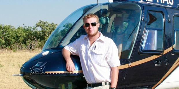 Helicopter pilot Mitch Gameren was killed in the crash. Photo / Supplied