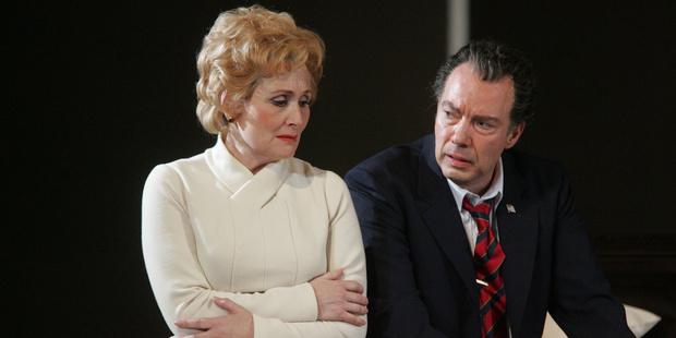 Janis Kelly as Pat Nixon and James Maddalena as Richard Nixon in Nixon in China. Photo / Alastair Muir