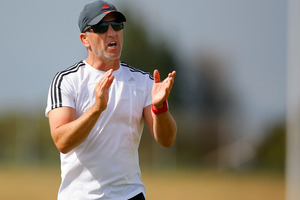 New Zealand Sevens women team coach Sean Horan.
