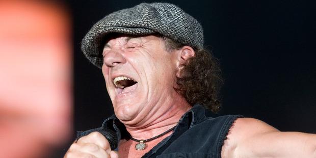 AC/DC vocalist Brian Johnson. Photo / Mark Mitchell