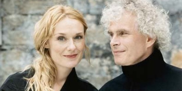 Magdalena Kozena and her partner, the conductor Sir Simon Rattle.