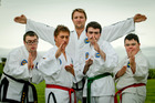 Hawke's Bay International Taekwon-Do Federation Ben Evans with his students.