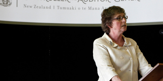 Auditor-General Lyn Provost, seen here at a Mangawhai Community briefing earlier this year, has agreed to pay the Kaipara District Council $5.3 million to settle a legal claim from the council.