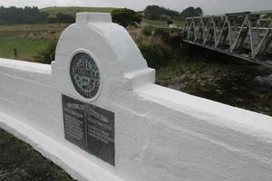 The ANZAC Memorial Bridge at Kaiparoro, north of Masterton. PHOTO/FILE