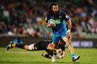 Rene Ranger led his Blues teammates out of the quagmire against the Jaguares. Photo / Getty Images