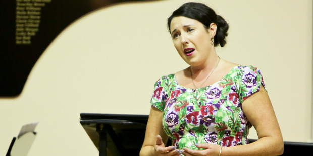 Chelsea Dolman won the 2016 IFAC Handa NZ Singing School Aria Competition, after making it through the semifinal at Napier's Municipal Theatre on Saturday. Photo / Warren Buckland