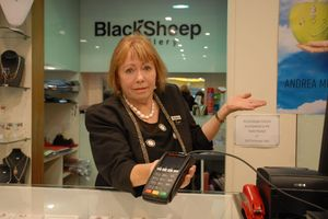 Black Sheep Jewellery Owner Lynn Simpson has had to turn away customers due to her EFTPOS being down right before Easter weekend. She said this was a recurring problem whenever it rained.