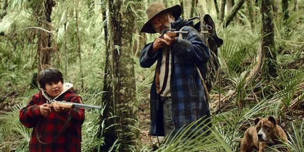 Actors Julian Dennison, left, and Sam Neill in Taika Waititi's film, Hunt for the Wilderpeople, which premiered at Regent 3 Cinemas on Wednesday night. PHOTO/FILE