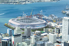 Artist impression of a waterfront stadium in Auckland. Image / Herald graphic