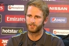 Captain Kane Williamson speaking ahead of the semi-final of the ICC World Twenty20 against England in Delhi tomorrow.