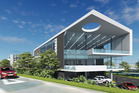 An artist's impression of the completed three-level office building at 45 Wilkinson Rd, Ellerslie.