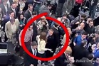The moment Donald Trump's campaign manager grabs a reporter by the arm and pulls her away from Trump. Photo / Jupiter Police Department