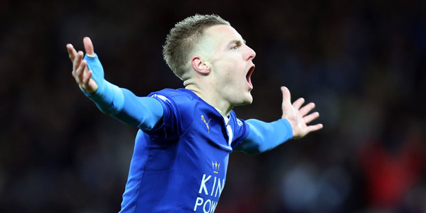 Jamie Vardy of Leicester City. Photo / Getty Images.