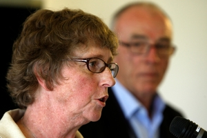 Auditor General Lyn Provost, seen here speaking to Mangawhai ratepayers in December 2013, has agreed to pay $5.3 million as an out-of-court settlement to the Kaipara District Council. Photo / John Stone
