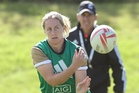Bay of Plenty's Kelly Brazier at the NZ women's sevens team training at Blake Park yesterday. Photo / John Borren