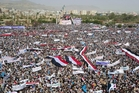 Tens of thousands protested against the war in the Yemeni capital, Sana'a . Photo / AP