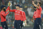 England restricted New Zealand late in their innings which proved crucial. Photo / AP