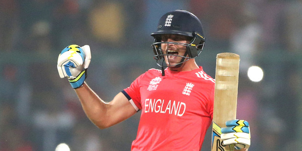 England won and were happy about winning. Photo / AP