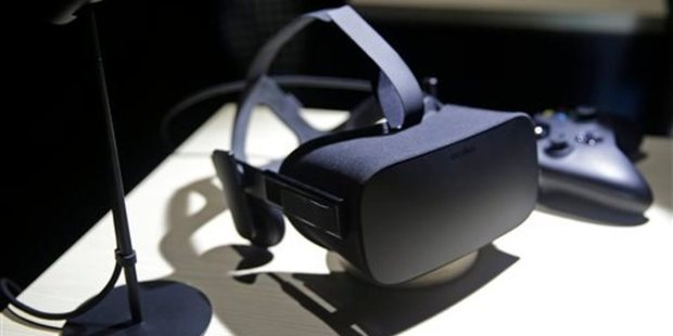 The Oculus Rift will be the first high-end virtual reality product to hit households this year. Photo / AP