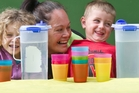 HEALTHY DRINKS: Mountain View Preschool is taking up the water only challenge. Pictured from left, Zara-Lea Clement-Gibson, 4, Lisa Ardern, Maxamillion Jensen, 4, and Jaelyn-Rae Flavell, 3. PHOTO/STEPHEN PARKER
