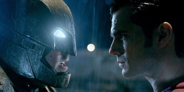 Clash of the titans: Ben Affleck as Batman and Henry Cavill as Superman. Photo / Warner Bros