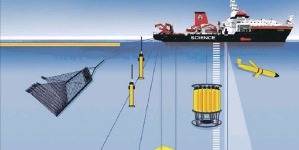 TRENCHING: The Sonne, the flagship vessel of the German research fleet, is capable of drilling 200m below the seafloor.
