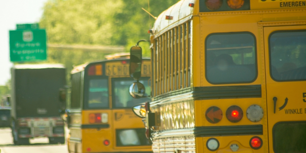 "The CIA left ""explosive training material"" under the hood of a school bus in the US. Photo Istock"